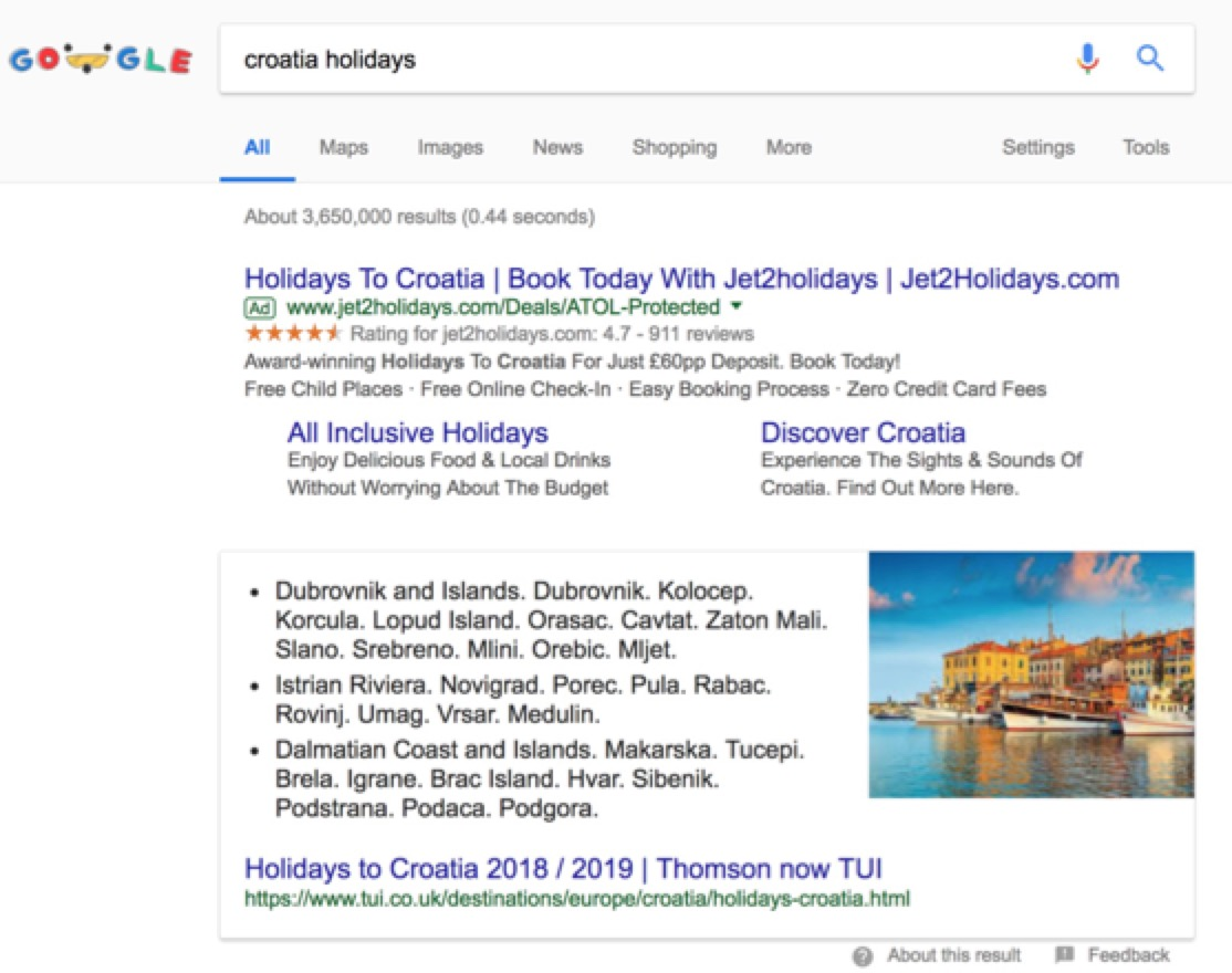 TUI rich snippets