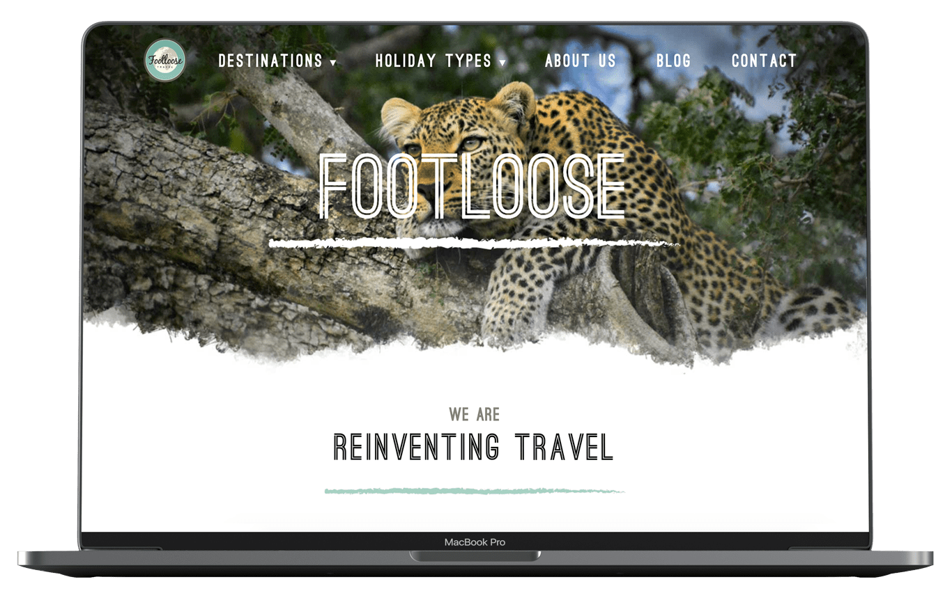 Footloose Website Design on Macbook