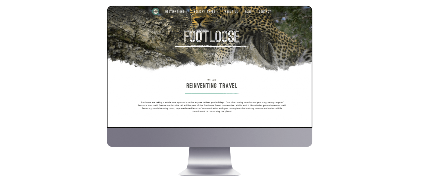 Footloose Website Design on Mac
