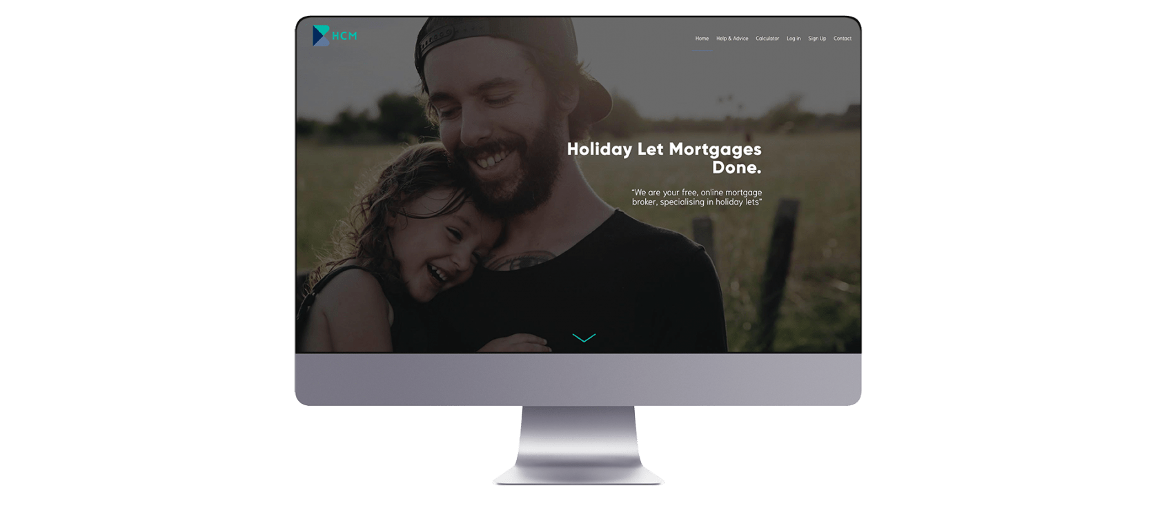 Holiday Cottage Mortgages Website Design on Mac