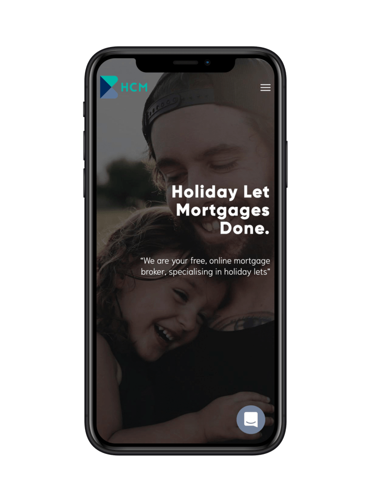 Holiday Cottage Mortgages website design on iPhone