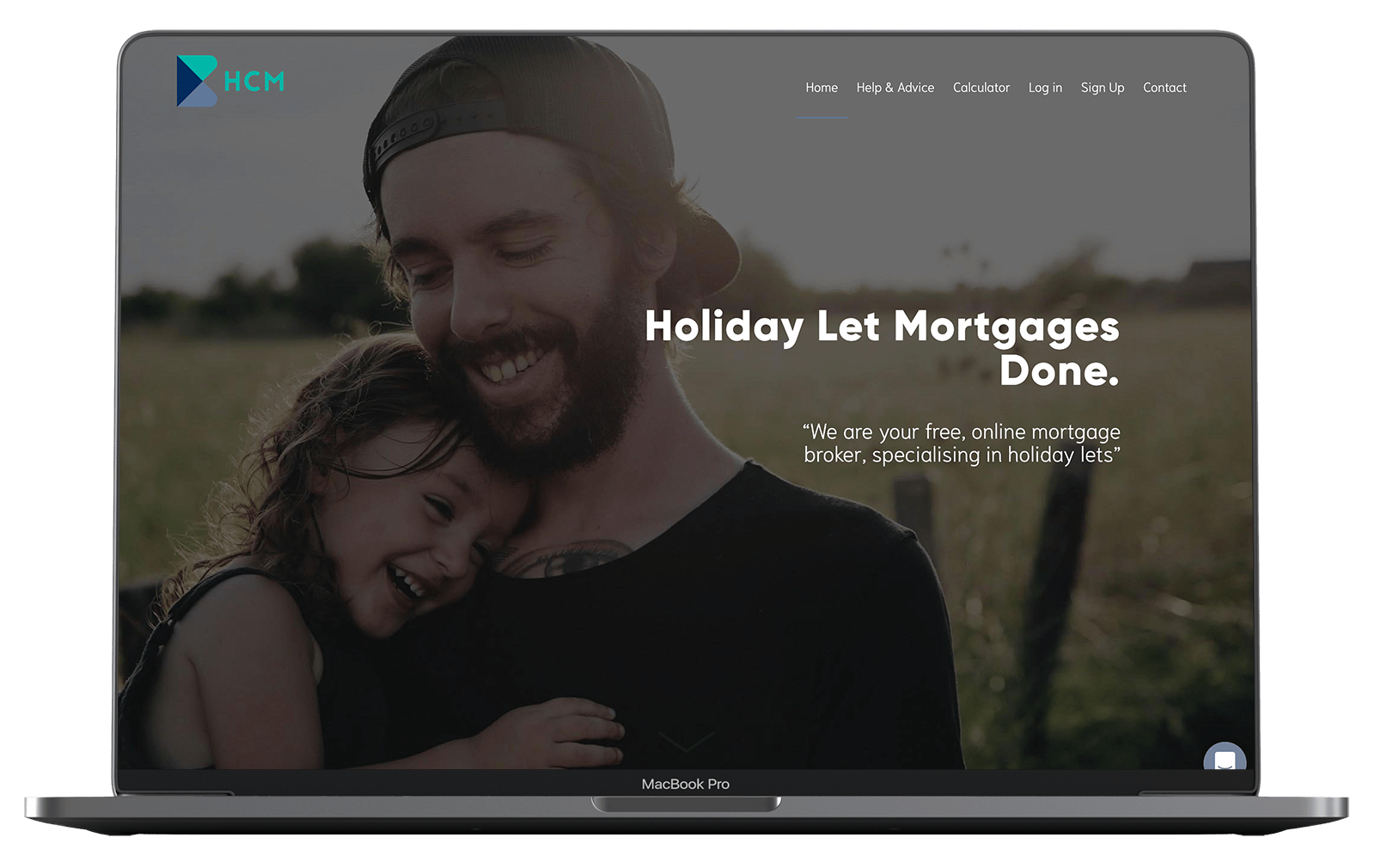 Holiday Cottage Mortgages website design on macbook