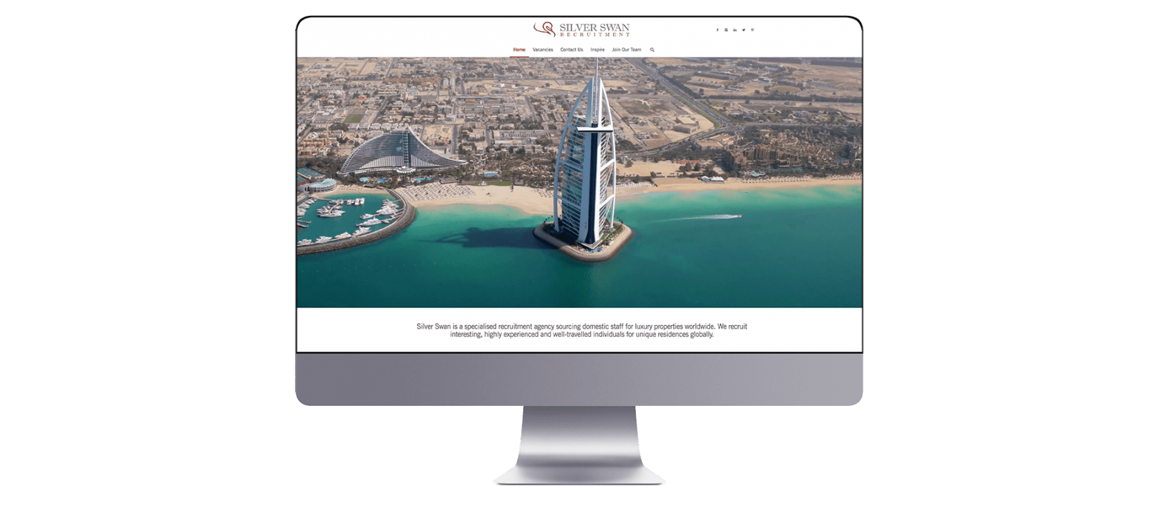 Silverswan website design on Mac