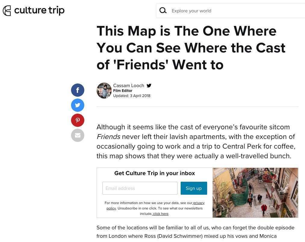 Culture Trip Coverage