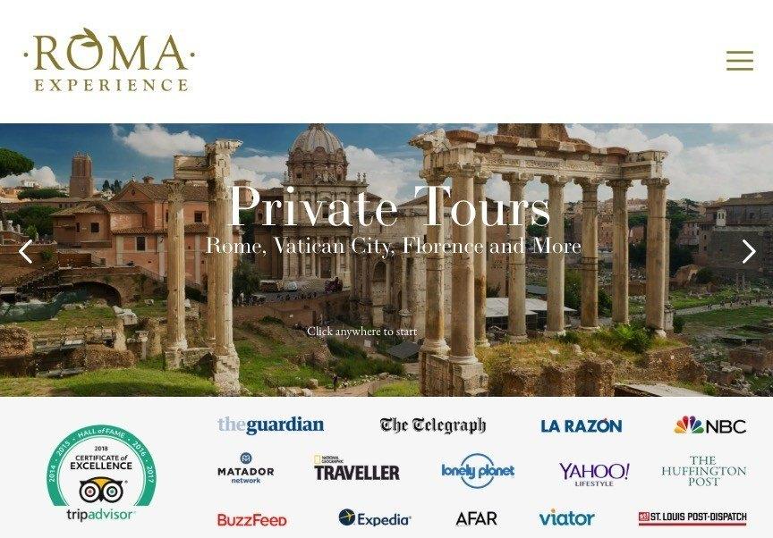 Roma Experience Screenshot Laptop