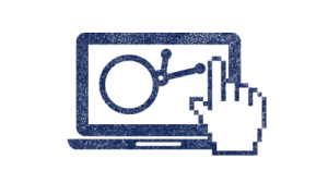 Laptop and Cursor icon